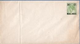 Nederlands Indie 1902 20 C Postal Stationery Envelope Wilhelmina Unused, Closed Flap - Indes Néerlandaises