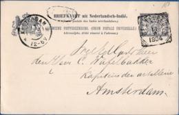 Nederlands Indie 1904 Weltevreden 7½ Ct Stationery Card To The Netherlands - Indes Néerlandaises