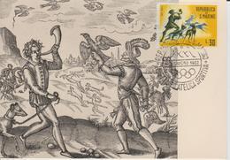 Saint Marin Carte Maximum 1961 Histoire De La Chasse 516 - Lettres & Documents