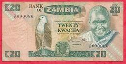 Zambie 20 Kwacha 1980/88  (sign 5) Dans L 'état - Zambie