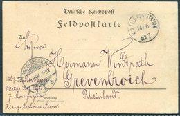 1901 (June 14th) China Boxer Feldpost No 7 Paotingfu Chinakrieg Postcard - Grevenbroich Germany - China