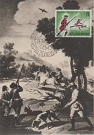Saint Marin Carte Maximum 1961 Histoire De La Chasse 518 - Lettres & Documents