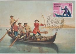 Saint Marin Carte Maximum 1961 Histoire De La Chasse 519 - Lettres & Documents