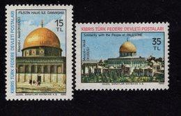 671334196 TURKISH CYPRUS 1981 POSTFRIS MINT NEVER HINGED POSTFRISCH EINWANDFREI SCOTT 93 94 PALESTINIAN SOLDIDARITY - Chypre (Turquie)