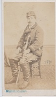 GUERRE 1870  PHOTO ORIGINALE     F. ORDONNEAU  LE CREUSOT - Militaria