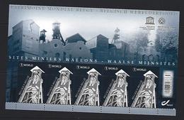 Belgie - Belgique 4429 Velletje Van 5 Postfris - Feuillet De 5 Timbres Neufs  - Waalse Mijnsites - Feuilles Complètes