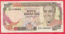 Zambie 5 Kwacha 1989   Dans L 'état - Zambie
