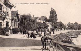 CPA, Le Perreux, Le Chemin De Halage Très Animé, Cycliste Regonflant Son Vélo, E. Faciolle Phot. édit. - Le Perreux Sur Marne
