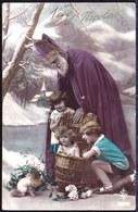 CPA  - Vive St Nicolas Avec Enfant Dans Le Sac ( Panier ) - Sint Nikolaas - Sint Niklaas - Saint-Nicolas
