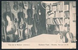 ANTWERPEN (ref. CP Nr 60) - Gustave FAES, Muziekwinkel, Rue Aux Lits 25 - Niet Gelopen - Antwerpen