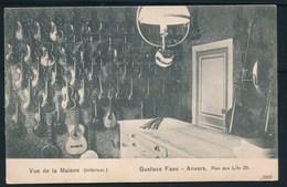 ANTWERPEN (ref. CP Nr 61) - Gustave FAES, Muziekwinkel, Rue Aux Lits 25 - Niet Gelopen - Antwerpen