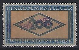 Germany 1922-23  Einkommensteuer / Income Tax.   200m  (o) - Service