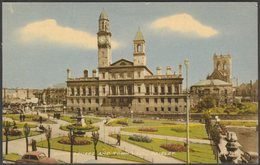 Dunn Square And Town Hall, Paisley, Renfrewshire, 1966 - Valentine's Postcard - Renfrewshire