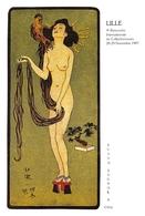 """¤¤  -   LILLE    -  Carte Des 9e Rencontre Internanale De Collectionneurs  -  Illustrateur """" HANAFUSA ITTCHO """"    -  ¤¤ - Lille"""