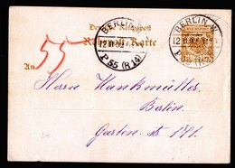 A5713) DR Rohrpostkarte Berlin W 12.02.92 - Deutschland