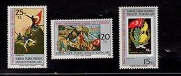 671354305 TURKISH CYPRUS 1983 POSTFRIS MINT NEVER HINGED POSTFRISCH EINWANDFREI SCOTT 129 130 131 25TH ANNIV TURKISH RES - Chypre (Turquie)