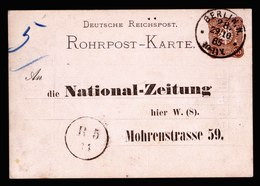 A5714) DR Rohrpostkarte Mit Vordruck Berlin N28 29.10.85 - Deutschland