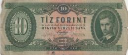 HONGRIE - Billet 10 Forint - Budapest 1947 - Magyar Nemzeti Bank - Hongrie