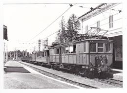 CPM TRAIN VOIR DOS 38 La Mure Train Mixte Automotrice Electrique A7 En Gare En 1938 - La Mure