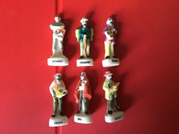 RARE Série 7/9 Fèves Brillantes LES GRANDS PEINTRES  -  NORDIA 1995 - Characters