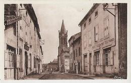 CARTE POSTALE ORIGINALE ANCIENNE : LOUDES  HOTEL DE LA POSTE RUE DE LA BARREYRE  HAUTE LOIRE  (43) - Loudes