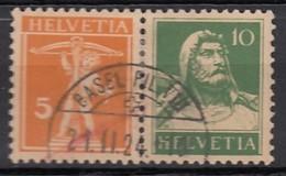SCHWEIZ W 2, Gestempelt, Tellknabe Und Tell 1921 - Se-Tenant