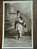 Oude FOTO KAART    Van MAN      Zwart  -    Bruinachtige Kleur  RROMANIA - Romania