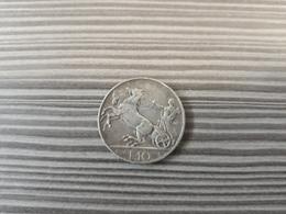 ITALY ITALIA SILVER COINS 10 LIRE 1928 VERY FINE CONDITION - 1900-1946 : Victor Emmanuel III & Umberto II