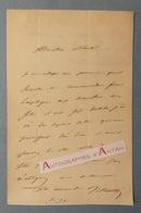 L.A.S Louis VISCONTI Architecte (construisit Le Tombeau De L'Empereur Napoléon) - Laroche - M. BLOUET Lettre Autographe - Autographes