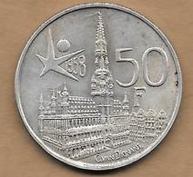 50 Francs Argent Exposition Universelle Baudouin I 1958 FR - 1951-1993: Baldovino I
