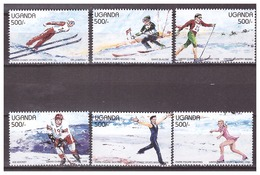 Uganda 1998 Olympics Skiing Ice-hockey Figure-skating MNH - Winter 1998: Nagano