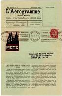 L'Aérogramme_Octobre 1931_ 2 C Type Blanc, Envoyé De Asnières Pour Saumur_ Vignette Foire Exposition De Metz - 1900-29 Blanc