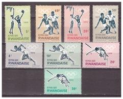 Rwanda 1964 Olympics Soccer Athletics Basketball MNH - Zomer 1964: Tokyo