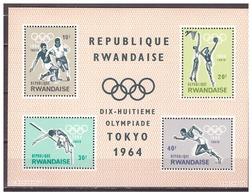 Rwanda 1964 Olympics Soccer Athletics Basketball S/S MNH - Zomer 1964: Tokyo