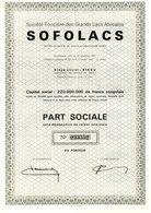 SOFOLACS PART SOCIALE SEIGE SOCIAL KINDU - Afrique