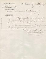 Lettre De 1876 SAINT-SERVAIS (LEZ-NAMUR) - E. WIELMAECKER & Cie - PAPETERIES NAMUROISES - België