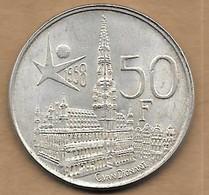 50 Francs Argent Exposition Universelle Baudouin I 1958 FL - 08. 50 Francs