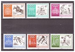 Rwanda 1968 Olympics Judo Defence Swimming Weightlifting Athletics MNH - Zomer 1968: Mexico-City