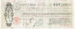 Mandat 1852 PARIS - DOPTER - Editeur D'estampes - Francia