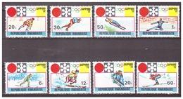 Rwanda 1972 Olympics Skiing Ice-hockey Speedskating Figure-skating MNH - Winter 1972: Sapporo