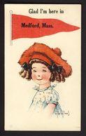 Pennant - Medford, Mass - Little Girl Ringlets C. Twelvetrees A/s - Künstlerkarten