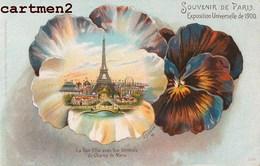 BELLE CPA : SOUVENIR DE L'EXPOSITION UNIVERSELLE DE PARIS TOUR EIFFEL CHAMPS DE MARS E. SCHLEMO - Expositions