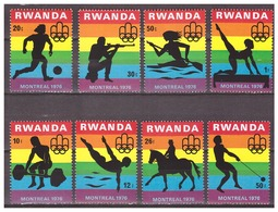 Rwanda 1976 Olympics Athletics Soccer Swimming Shooting MNH - Sommer 1976: Montreal