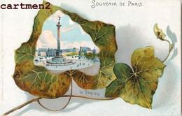 BELLE CPA : SOUVENIR DE PARIS LA BASTILLE 1900 - Arrondissement: 11