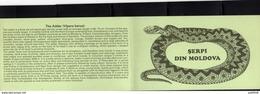 MOLDAVIA MOLDOVA 1993 FAUNA Animals ANIMALI SERPI DIN Reptiles SNAKES SERPENTI  WWF BOOKLET LIBRETTO NUOVO UNUSED - Moldavia