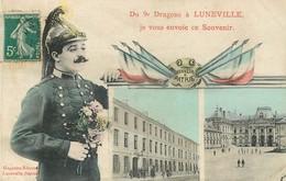 54 DU 9È DRAGONS A LUNEVILLE JE VOUS ENVOIE CE SOUVENIR - Luneville
