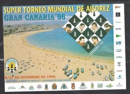 Chess, Spain Gran Canaria, December 1996, Unused Postcard - Chess