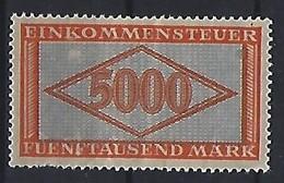Germany 1922-23  Einkommensteuer / Income Tax.   5000M.  (**) - Service