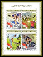 SIERRA LEONE 2018 **MNH Asian Games Archery Bogenschießen Tir A L' Arc M/S - OFFICIAL ISSUE - DH1847 - Archery