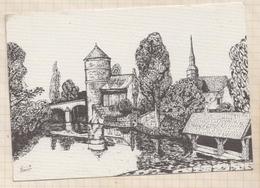 8AK3916 BROU CARTES POSTALES TIMBRES MONAIE 1995 Illustrateur FARAULT DANGEAU LE PIGEONNIER LE PONT DES GRILLES  2 SCANS - France